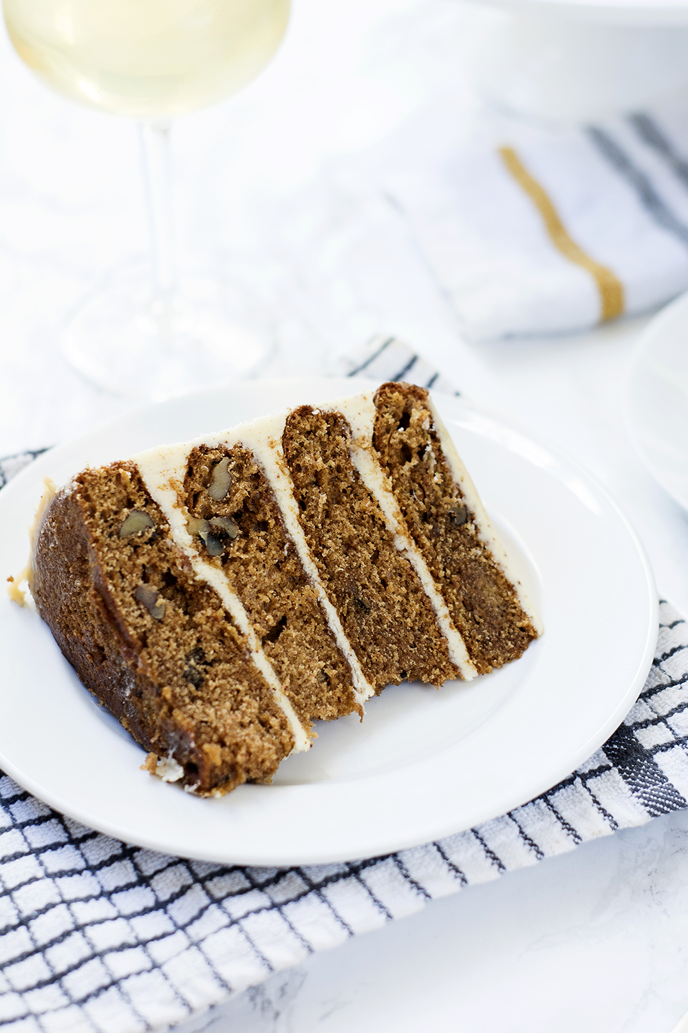 Spiced pear cake